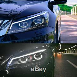 LED Head Lights For Honda 8Th Gen Accord 2008-2012 Front Lamps Turn Blinkers