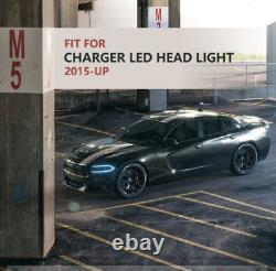 LED Headlight Fits For DODGE CHARGER 2015-2020 High&Low Beam Front Lamp Assembly