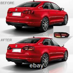 LED Headlights withDUAL BEAM+SMOKED+H7 LED Bulbs Taillights for 2011-2014 VW JETTA
