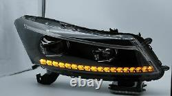 LED Headlights withSequential Turn Sig. +VLAND D2S LED Bulbs for 08-12 Honda Accord
