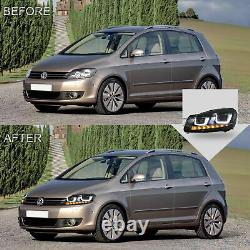 LED Headlights with DRL Sequential Turn Signal for 2010-2013 Golf MK6