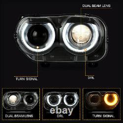 LED Headlights with DRL for 2015-2020 Dodge Challenger Direct Replacement