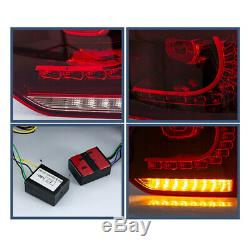 LED Red Tail Lights Fit For 2010-2014 VW Golf 6 MK6 GTI Sequential Indicator
