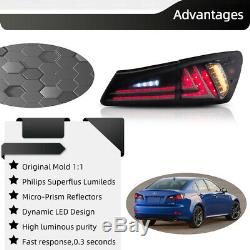 LED Smoked Tinted 2016 Model Tail Lights For Lexus IS350 IS250 2006-2013