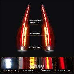 Left+Right Clear LED Rear Taillight Replacement Assembly For 2015-2020 GMC Yukon