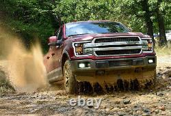 Modded Black FULL LED Headlights with Sequential Turn Signal for 18-20 F-150