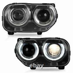 Multi Color LED DRL Headlight Turn Signal Lamp for 2015-2019 Dodge Challenger