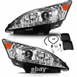 Projector Chrome D2H 9005 Headlights with DRL Dual Beam for 10-12 Lexus ES350