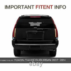 SMOKED LED Lens Black Housing Taillights Pair For 07-14 Chevy Suburban Tahoe