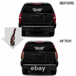 SMOKED LED Singal Taillights Assembly Pair For 2007-2014 Chevy Suburban Tahoe
