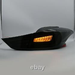 SMOKED LED Taillights with Sequential Turn for Hyundai Elantra 2011-2016 Sedan