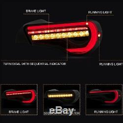 SMOKED LED valenti Taillights for 2017-2019 Toyota 86 Taillamps Assembly