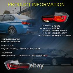 Sequential LED Taillight For BMW 3 Series F30 320i 335i 328i M3 2013 2014 2015