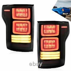 Smoke LED Sequential Taillight for 2015-2020 FORD F-150 Brake Lights Replacement