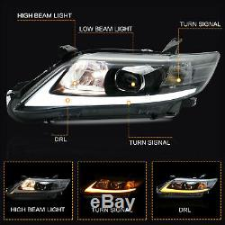 Switchback LED Dual Beam Projector Headlights with DRL Sequential for 10-11 Camry