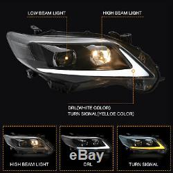 Switchback LED Signal Beam Projector Headlights with DRL for 2011-2013 COROLLA