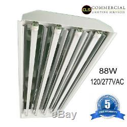T8 LED High Bay Warehouse Shop Commercial Light Fixture USA MADE Lamps included