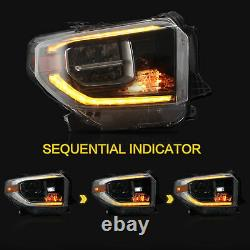 TITANIUM Switchback FULL LED Projector Headlights for 14-15 17-20 Tundra NO 2016