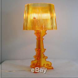 Transparent Bedside LED Crystal Shades Table Lamps Nightstand High Accents Lamp