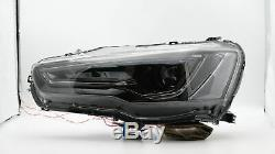 UPGRADED LED Headlights ALL BLACK with Sequential Turn Sig. For 08-17 Lancer