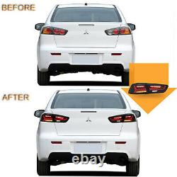 US Stock For 08-17 Lancer/EVO SMOKED with Fiber Optic Sequential LED Tail Lights