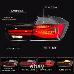 US Stock For 12-18 BMW 3er F30 F80 CLEAR Fiber Optic Sequential LED Tail Lights
