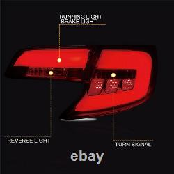 US Stock For 2012-2014 Toyota Camry SMOKED Fiber Optic LED Tail Lights Assembly