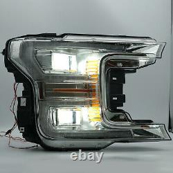 US Stock For Ford 18-20 F-150 Chrome with Sequential Turn Sig. FULL LED Headlights
