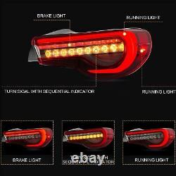 Upgraded RED LED Taillights for 2013-2016 TOYOTA Scion FR-S Assembly