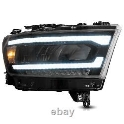 VLAND FULL LED Reflector Headlights Sequential Turn For 2019-2021 Dodge Ram 1500