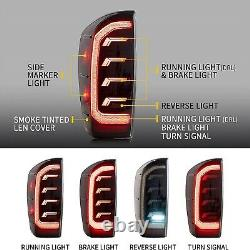 VLAND FULL LED Smoked Tail Lights /W Sequential Turn For 2016-2021 Toyota Tacoma