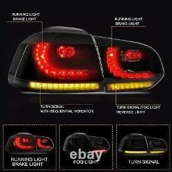 VLAND For 2010-2013 VW GOLF 6 MK6 GTI 2012-2013 Golf R SMOKED LED Taillights