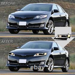 VLAND LED Headlight Front Lamps Left & Right Pair for 2012-2014 Toyota Camry