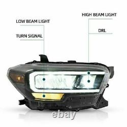 VLAND Modded Clear FULL LED Reflector Headlights for 16-21 Toyota Tacoma