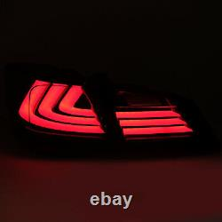 VLAND Modded For 13-15 Accord RED SMOKED LED Taillights with Sequential Turn Sig