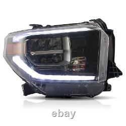 VLAND Modded For 2014-2020 Toyota Tundra ALL BLACK FULL LED with DRL Headlights