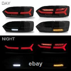 VLAND Modded LED Headlights withDEMON EYS+SMOKED Taillights for 2011-2014 VW JETTA