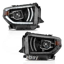 VLAND Modded LED Headlights withDRL Sequential Turn Signal for 2014-2020 Tundra