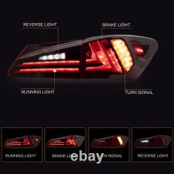 VLAND RED LED Tail Lights for 2006-2013 Lexus IS 250 IS350 Sedan & 08-14 ISF