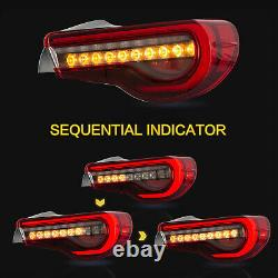 VLAND Red Clear LED Tail lights for 13-16 FR-S 17-19 86 13-20 Subuaru BRZ