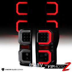 07-13 Toyota Tundra Neon Tube Black Smoked Tail Lamp+high Power Back-up Ampoule Led