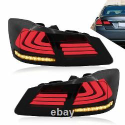 2013-2015 Honda Accord Smoked Led Séquentielle Taillight Lens With Housing Assembly