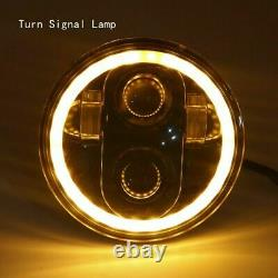 4pc Combo 5.75 5-3/4 Round Led Hi/low Sealed Beam Drl Headlights White For Gmc