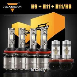 Auxbeam H9 / H11 + H11 Phare Led Phare Antibrouillard Canbus + H16jp Pour Toyota Tacoma 16-19