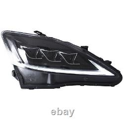 Clear Full Led Headlights Pour 2006-2013 Lexus Is250 Sedan Front Lights Assemblage