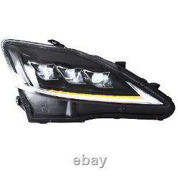 Clear Full Led Headlights Pour 2008-2014 Lexus Is F Front Lights Assemblage