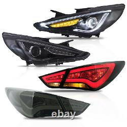 Clear Headlights+smoked Taillihgts Pour Sonata 11-14 Gls Limited Se 11-13 Gl