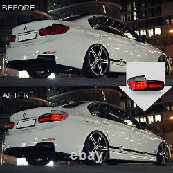 Clear Led Taillights Sequential Turn Sig Pour 12-18 Bmw 3er Série 3 F30 F80