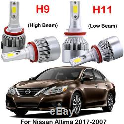 Combo H9 H11 Led Phares Ampoules Kits Pour Nissan Altima Sentra Rogue Murano Partie