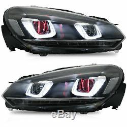 Demon Eye Phares + Red Taillights + Led H7 Ampoules Pour 13.10 13.12 Golf Mk6 Golf R